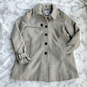 Silver Grey Worthington Peacoat Coat